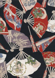 Traditional Japanese Print - Black 61460 Col 3