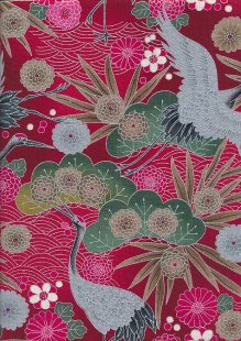 Traditional Japanese Print - Red 60450 Col 103