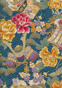 Traditional Japanese Print - Teal 60440 Col 104