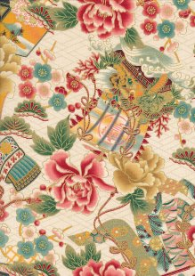 Traditional Japanese Print - Cream 60440 Col 5