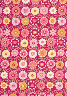Sevenberry Japanese Fabric - Printed Twill Oops a Daisy Pink