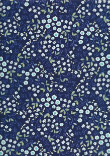 Sevenberry Japanese Fabric - Printed Twill Midnight Garden