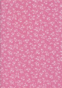 Sevenberry Japanese Fabric - Linen Look Cotton Posy Pink