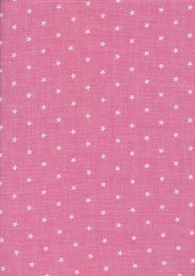 Sevenberry Japanese Fabric - Linen Look Cotton Starlight Pink