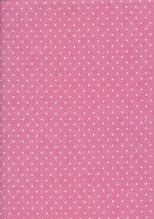Sevenberry Japanese Fabric - Linen Look Cotton Polkadot Pink
