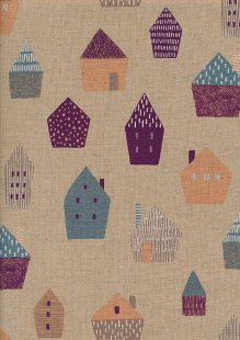 Sevenberry Japanese Fabric - Cotton Linen Mix In The City Taupe