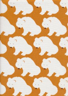 Sevenberry Japanese Fabric - Linen look cotton -  Arctic Orange