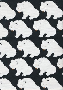 Sevenberry Japanese Fabric - Cotton Linen Mix Arctic Black