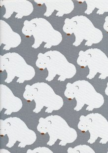 Sevenberry Japanese Fabric - Cotton Linen Mix Arctic Grey