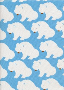 Sevenberry Japanese Fabric - Cotton Linen Mix Arctic Blue