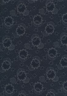 Japanese Fabric - Floral Stipple Blue