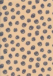Sevenberry Japanese Fabric - Swirl Blue