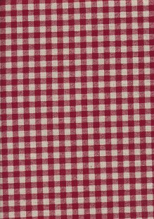 Sevenberry Japanese Fabric - Cotton Linen Mix  Gingham Print Red