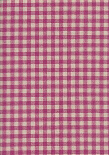 Sevenberry Japanese Fabric - Cotton Linen Mix  Gingham Print Pink