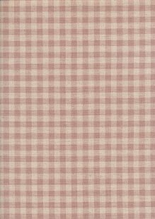 Sevenberry Japanese Fabric - Cotton Linen Mix  Gingham Print Pale Pink