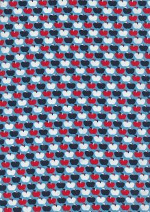 Cotton Jersey - Apples On Blue