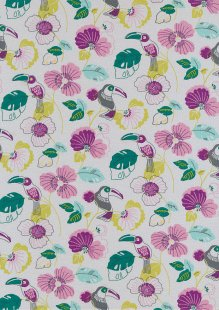 Poppy Europe Cotton Jersey - Colourful Toucan Grey