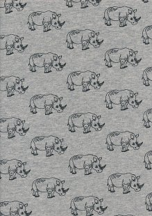 Cotton/Poly Jersey - Rhinos Grey