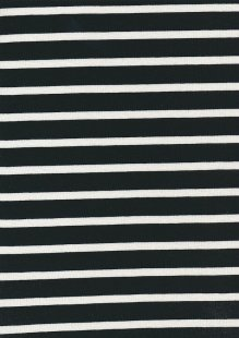 Viscose Jersey - Black & White Stripe