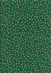 John Louden Christmas Collection - Gilded New Stars Green/Gold JLX0031