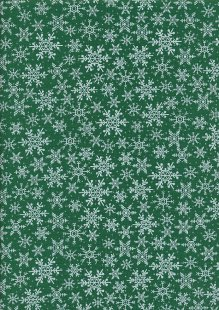 John Louden Christmas Collection - Gilded Green Packed Snowflake Green/White/Silver JLX0034