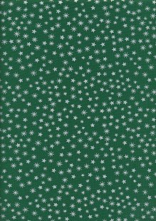 John Louden Christmas Collection - Gilded New Stars Green/Silver JLX0031