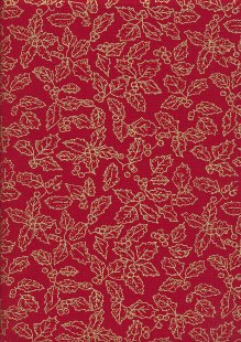 John Louden Christmas Collection - Gilded Holly Red/Gold JLX0030