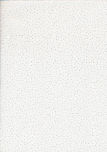 John Louden Christmas Collection - Gilded White Stars With Foil Dot White/Silver JLX0035