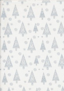 John Louden Christmas Collection - Gilded Nordic Trees White/Silver JLX0037