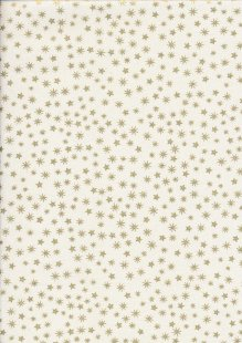 John Louden Christmas Collection - Gilded New Stars Ivory/Gold JLX0031
