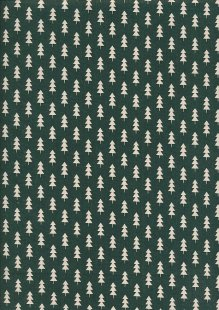John Louden Christmas Collection - Scandi Small Tree Green/Natural Seeded JLX0045