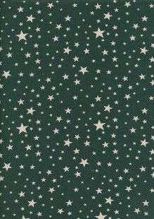 John Louden Christmas Collection - Scandi Multi Star Green/Natural Seeded JLX0044