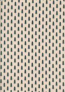 John Louden Christmas Collection - Scandi Small Tree Natural/Green Seeded JLX0045