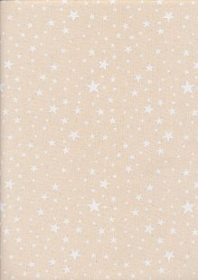 John Louden Christmas Collection - Scandi Multi Star Natural/Green Seeded JLX0044