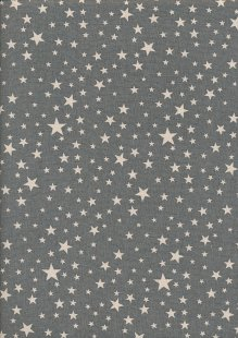 John Louden Christmas Collection - Scandi Multi Star Grey/Naural Seeded JLX0044