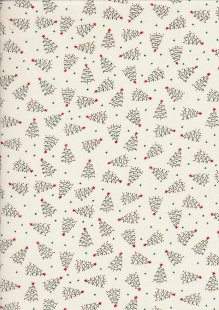 John Louden Christmas Collection - Scandi Christmas Tree Ivory/Green JLX0046