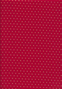 John Louden Christmas Collection - Gold Stars on Red