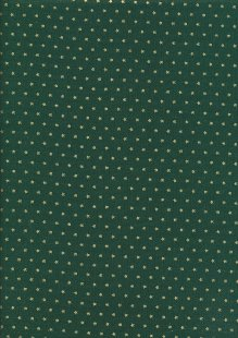 John Louden Christmas Collection - Gold stars on Green