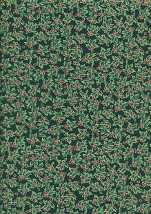 John Louden Christmas Collection - Holly on Green