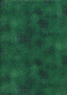 John Louden Christmas Collection - Silver Sprinkle on Green
