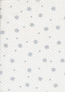 John Louden Christmas Collection - Silver Snowflake on White