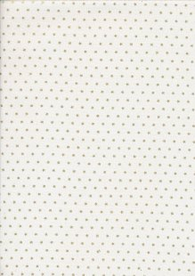 John Louden Christmas Collection - Gold Stars on Ivory