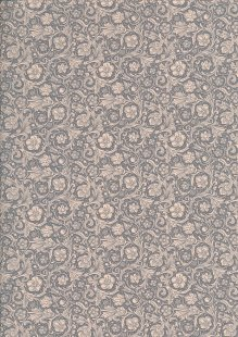 Quality Cotton Print - Floral Swirl Grey