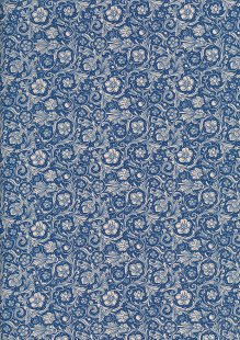Quality Cotton Print - Floral Swirl Blue