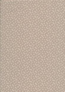 Quality Cotton Print - Ditsy Floral Taupe