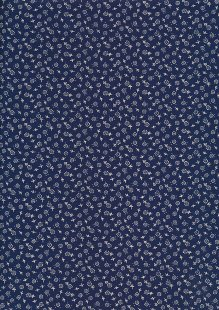 Quality Cotton Print - Ditsy Floral Blue