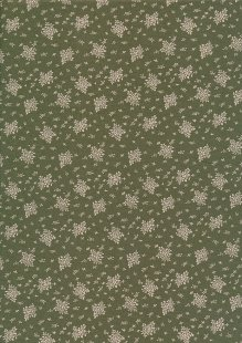 Quality Cotton Print - Flower Bunch Green