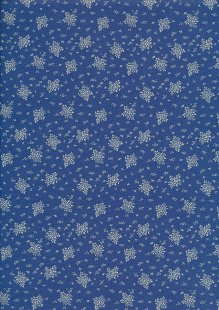 Quality Cotton Print - Flower Bunch Blue