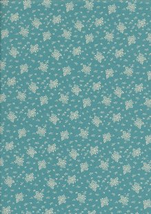 Quality Cotton Print - Flower Bunch Turquoise