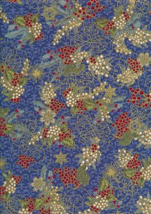 Quality Cotton Print - Gilded Holly Blue